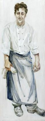 Cook   Acrylic on wooden panel   60x120 cm