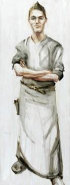 Waiter   Acrylic on wooden panel   60x120 cm