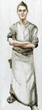 Waiter | Acrylic on wooden panel | 60x120 cm