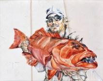 Fisherman 03   Acrylic on sailcloth   70x90 cm   Loris Teguise Lanzarote ES