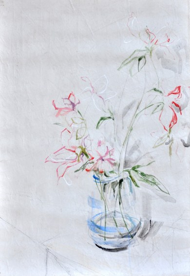 Light Flowers in Vase