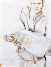 Fisherman 07 | Acrylic on sailcloth | 70x90 cm