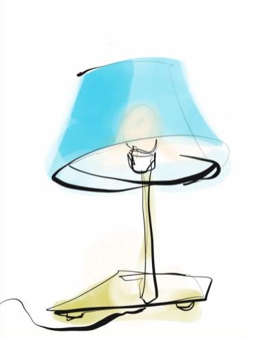 Lamp   digital drawing   illustration