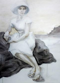Woman on Rocks Lanzarote ES