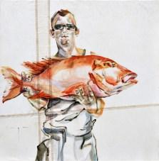 Fisherman 02 | Acrylic on sailcloth | 70x90 cm | Loris Teguise Lanzarote ES