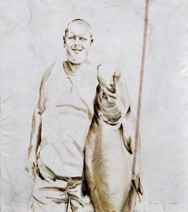 Fisherman 09 | Acrylic on sailcloth | 80x90 cm | Kunstuitleen Alkmaar