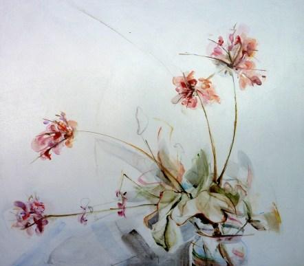 Finca Flowers 01  Acrylic on wooden panel   70x80 cm   Kunstuitleen Alkmaar
