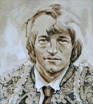 Jan Peters AZ as Torero   Acrylic on linnen canvas  70x80 cm
