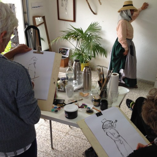 Model Rosa | Model Drawing Famara Lanzarote 2017