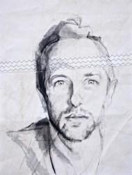 Chris Martin Acrylic on sailcloth   50x70 cm