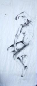 Woman Model Sail 04   Acrylic/charcoal on sailcloth   90x200 cm