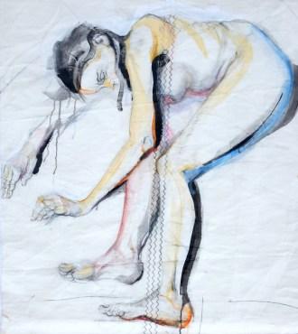 Woman Model Sail 07 |Acrylic on sailcloth | 98x98 cm