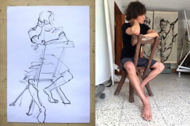 Model Luis | Model Drawing Famara Lanzarote