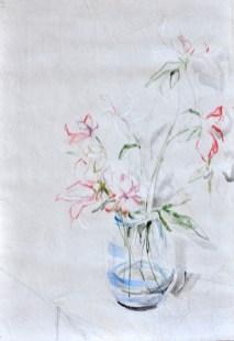 Flowers Sail Light |Acrylic on sailcloth | 88x130 cm | Steel frame top&bottom