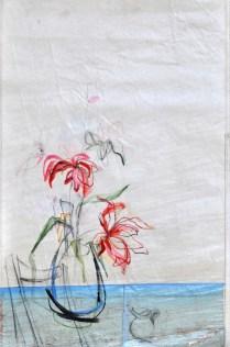 Flower Sail Chair |Acrylic on sailcloth | 88x137 cm | Steel frame top&bottom
