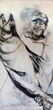 Fishermen Double sided 02b | Acrylic on sailcloth | 90x187 cm