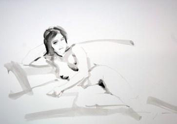 Vintage nude 03|Ink on paper | A3