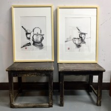 Paintings made at the Foshan Art Institute China 2018