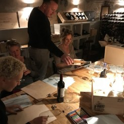 wijn schilderen wine art painting