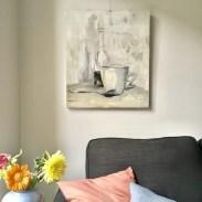 Still life painting on wall | Kunstuitleen Alkmaar |