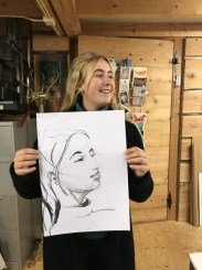 Model portrait drawing | portret modeltekenen | Lois Lindeboom