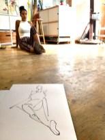 Model tekenen Schoorl, model Roseline juli 2018