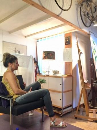 portretteken | model tekenen Schoorl, model Chantal juli 2018