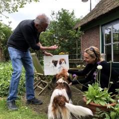 Portret in opdracht, dierenportret, hond Toeka Koopmans Groet