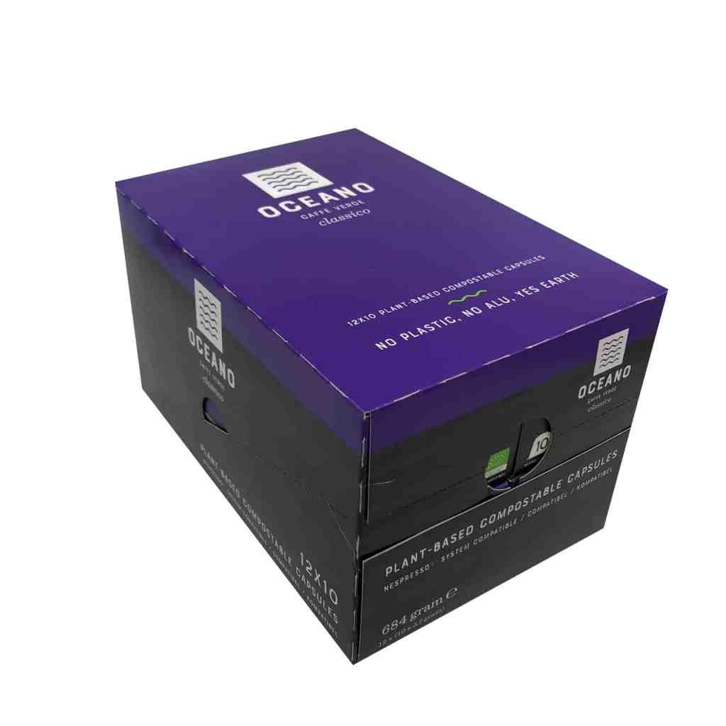 Oceano Coffee Composteerbare capsules 120 stuks Classico Masterbox