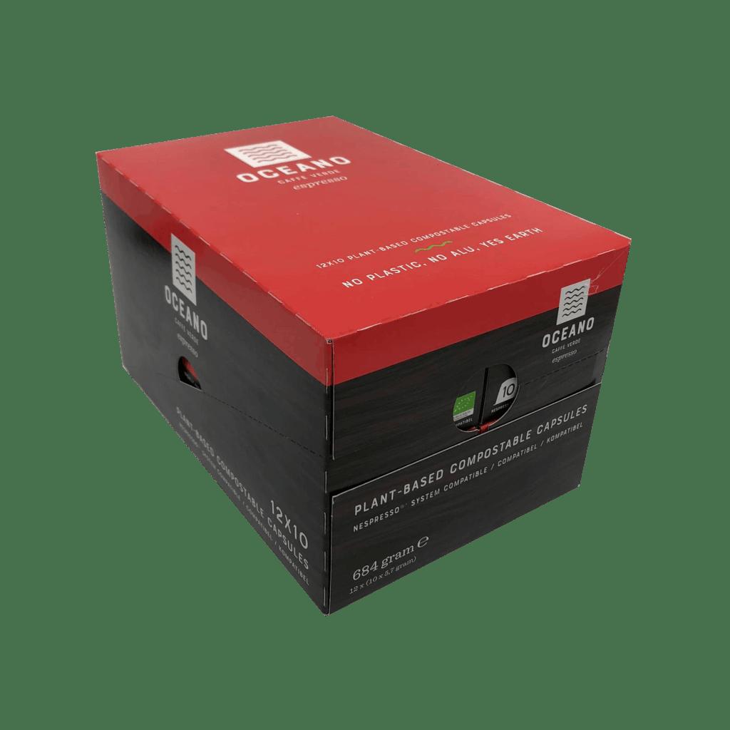 Oceano Coffee Composteerbare capsules 120 stuks Espresso Masterbox