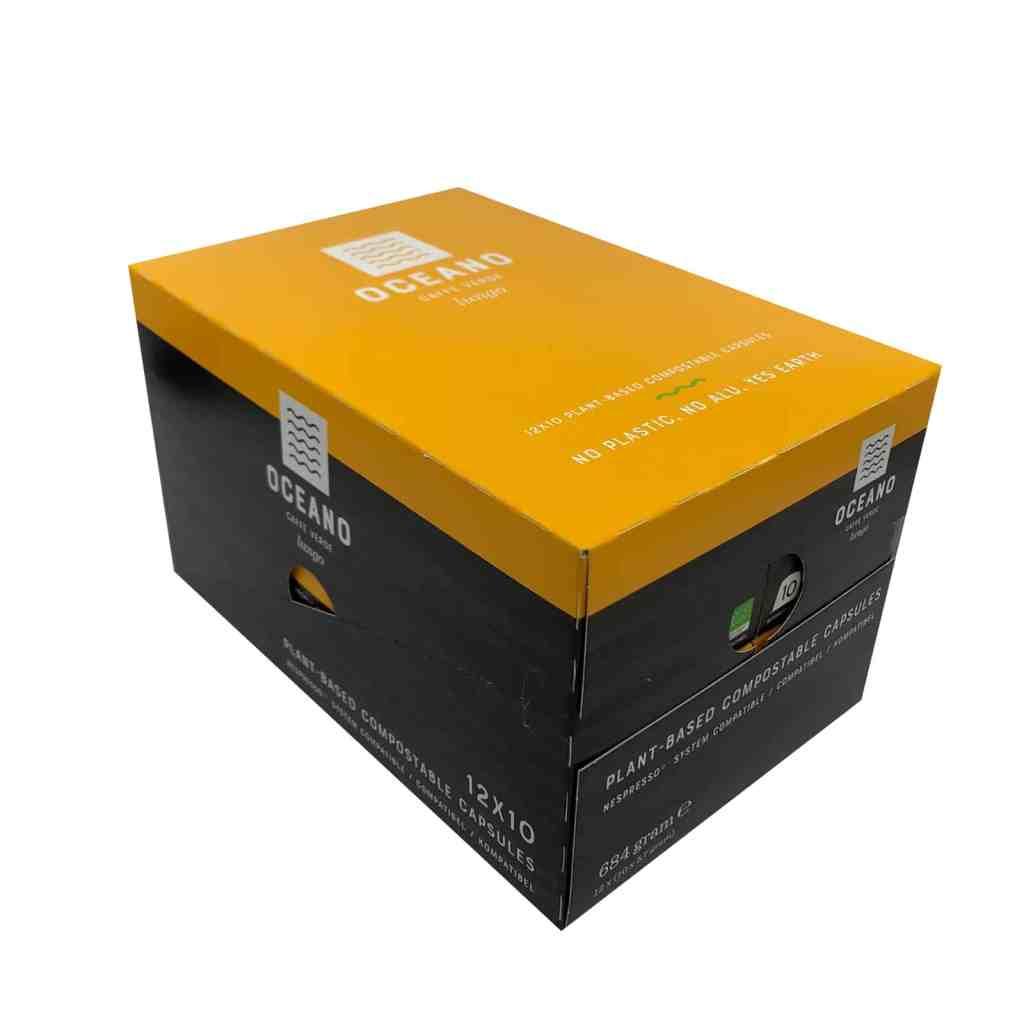 Oceano Coffee Composteerbare capsules 120 stuks Lungo Masterbox