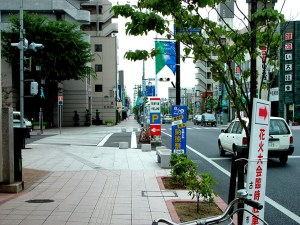 日光街道(若野屋西側から日本橋方面)