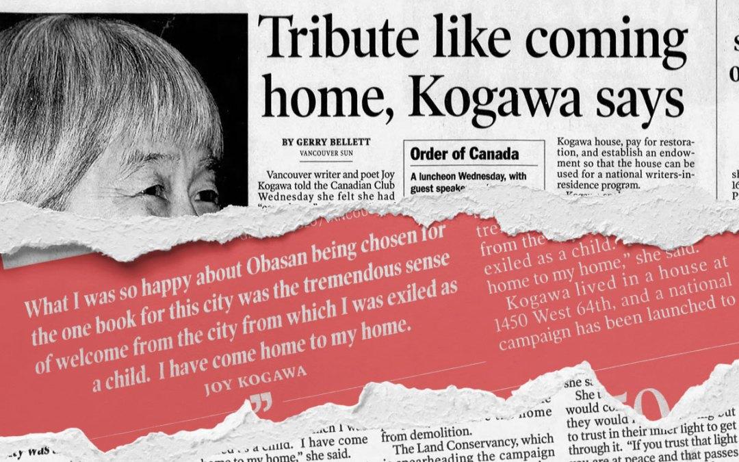 Vancouver Sun: Tribute like coming Home, Kogawa says…