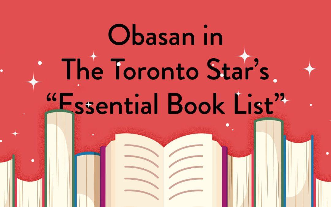 "Joy Kogawa listed in The Toronto Star's ""Essential Book List"""