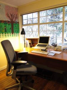 A comfortable office space