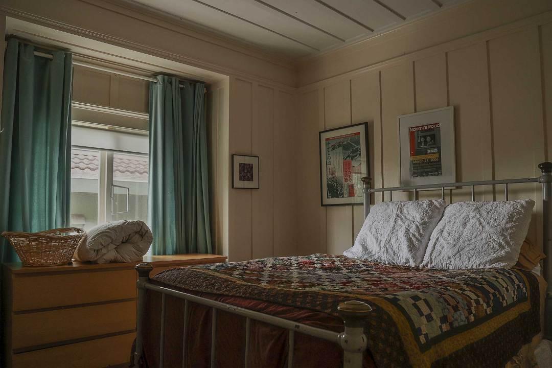 One of the bedrooms at Historic Joy Kogawa House.