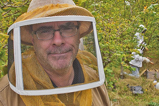 Brian Campbell, founder of the Bee School and Blessed Bee Apiaries