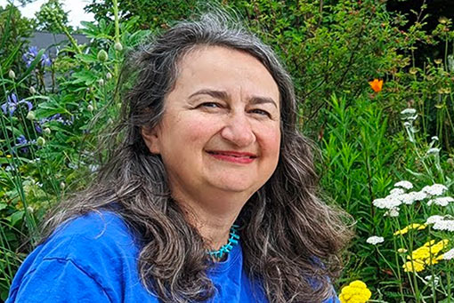Lori Weidenhammer, performance artist and educator, author of Victory Gardens for Bees: A DIY Guide to Saving the Bees
