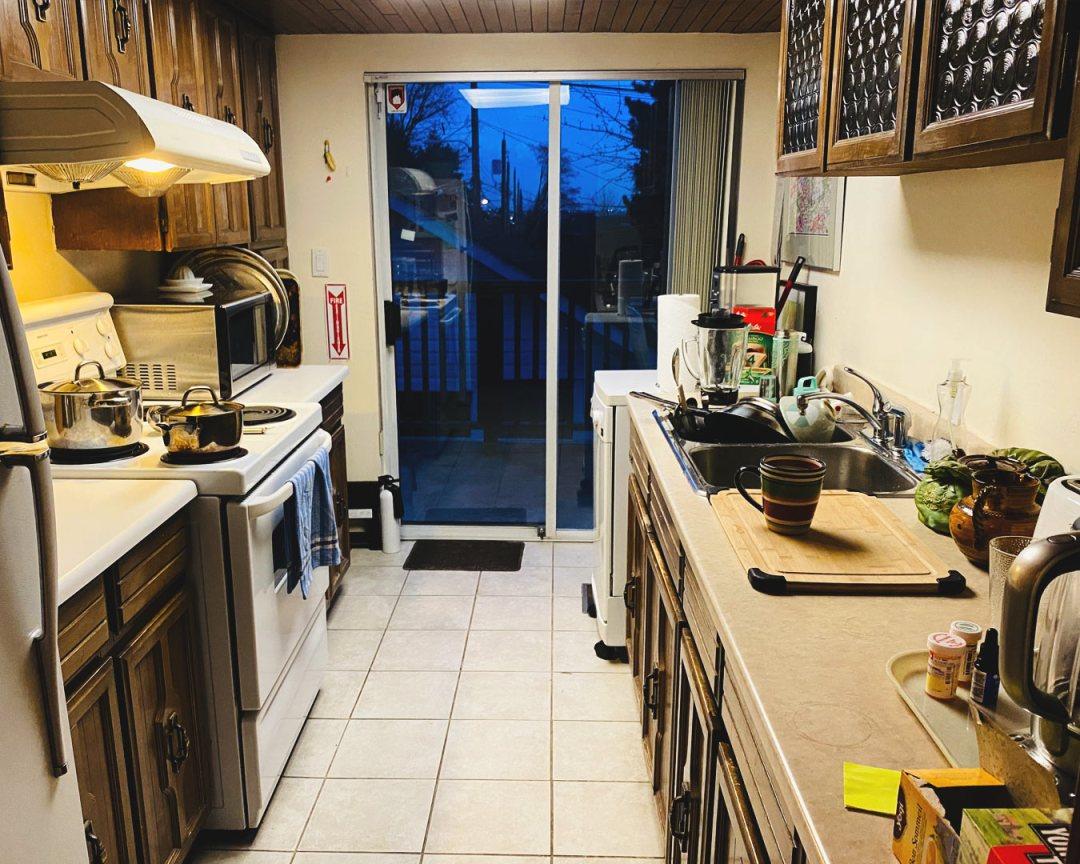 Liz Marshall - in the kitchen of the Kogawa House
