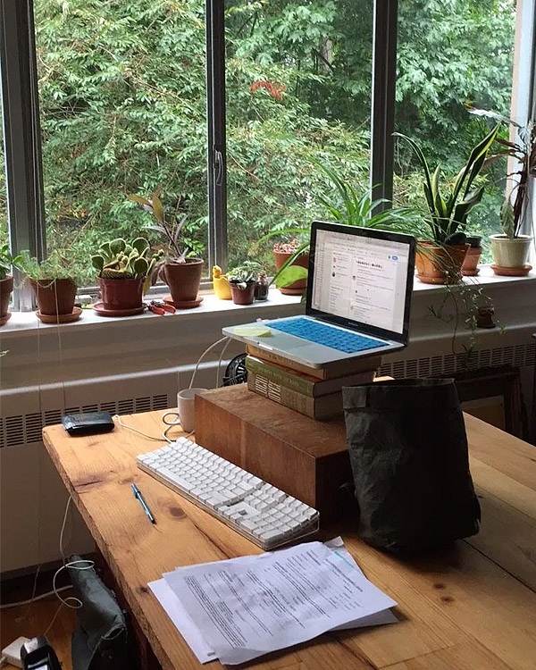 Photo by Kevin Spenst: the author's working space at home