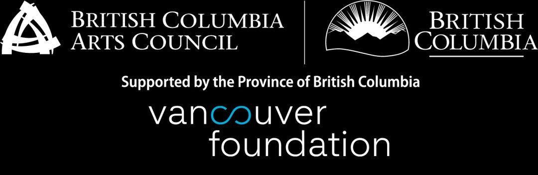Logo and acknowledgement - Arts Council, Vancouver Foundation