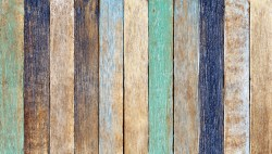 Multi-colored wooden planks