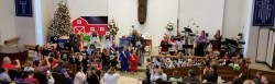 Christmas Play during 10:30 service with children wearing costumes