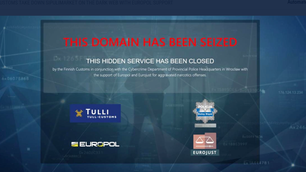 Authorities Shut Down Darknet Marketplace Sipulimarket, Seize Bitcoin
