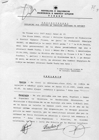 """Dosja nga Prokuroria e djegies nga Shteti e """"KOHA JONE"""