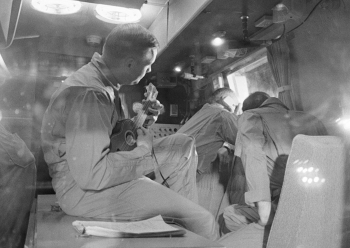 Neil Armstrong Playing A Ukulele Whilst Quarantined After Returning From The Moon (Michael Kohan Photography)