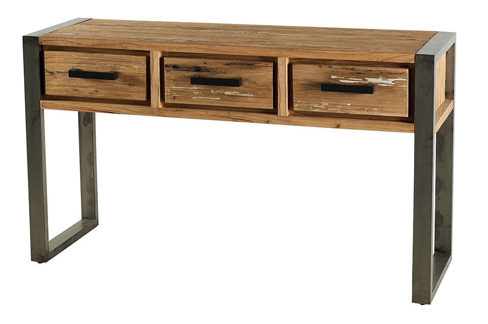 console en bois metal toronto 140cm casita