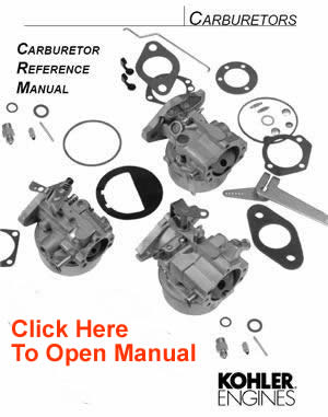 Kohler Carburetor Service Parts List : Kohler Engines and
