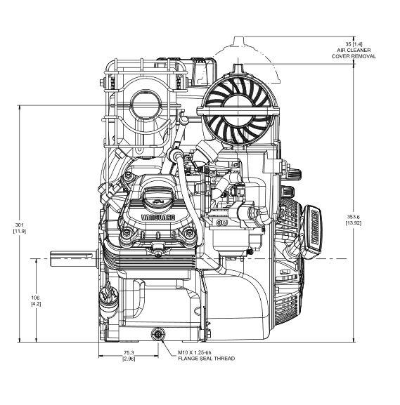 6.5 hp Briggs & Stratton Vanguard Engine 12V332-0013-F1 3