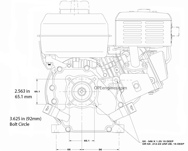 Briggs & Stratton Engine 13R232-0001-F1 9.5 Power 208cc 3
